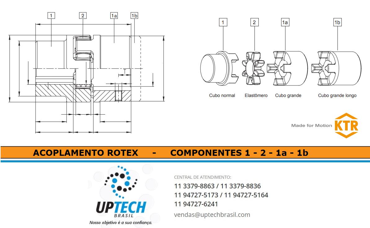 Acoplamentos Rotex - Componentes