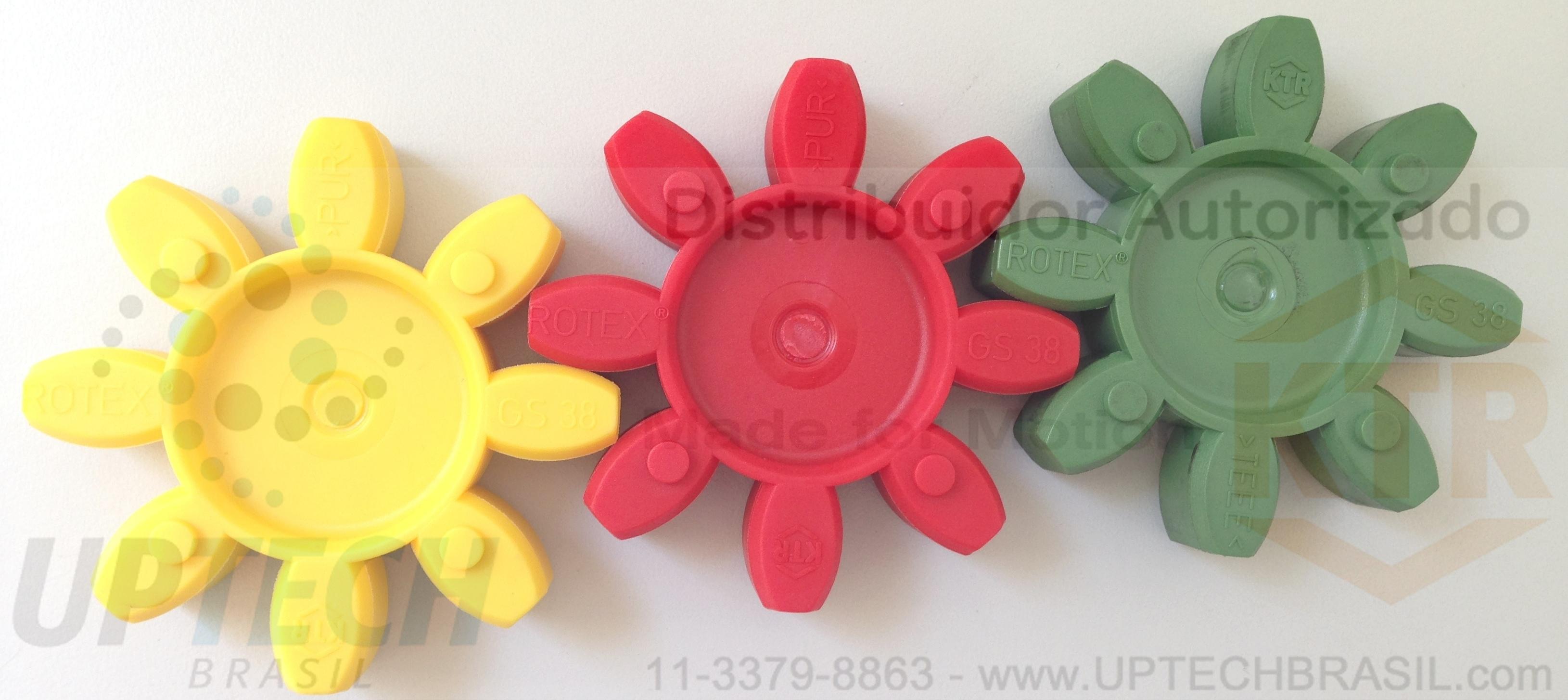 ELASTÔMERO ROTEX® GS - 3 durezas (92 ShA, 98 ShA e 64 ShD)